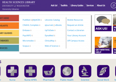 UW Health Sciences Library Site & Icons