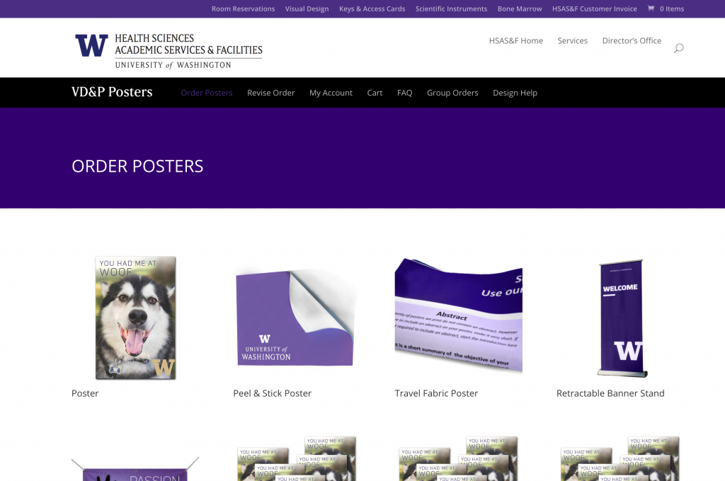 UW Posters Woocommerce Page